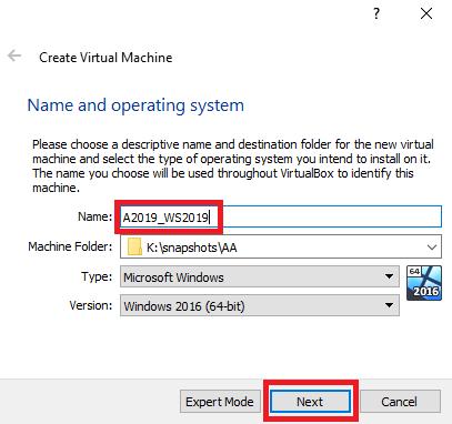 Create Virtual Machine